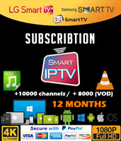 Smart IPTV Subscription Official 12 MONTH High quality