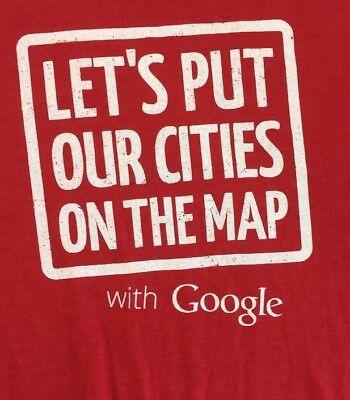 Google Maps Red 2Xl T Shirt