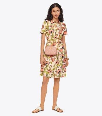 Tory Burch Dress 2 Poplin Garden Party Poppies ShirtDress XS NWT 2019 Poplin Party Dress