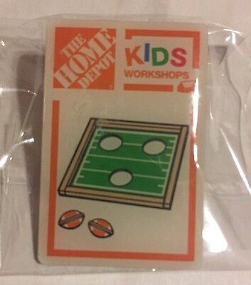 NEW THE HOME DEPOT KIDS WORKSHOP FOOTBALL TOSS GAME PIN COLLECTIBLE VERY RARE