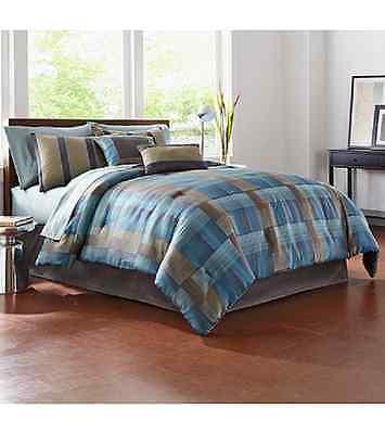 Living Quarters Meridian 6 piece King Comforter Set ~ Brand New!