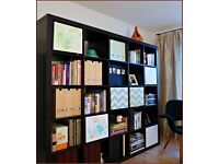 Large Expedit Ikea Bookcase Black/Brown