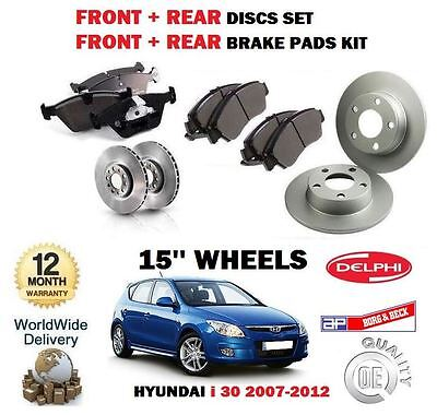Para Hyundai i 30 I30 2007-2012 Frente + Juego Freno Disco Trasero y Kit de comprar usado  Enviando para Brazil