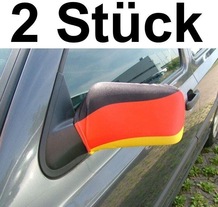 2 x Spiegelfahne Car Mirror Flag German World Cup Flag Topcoat plus Size