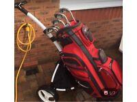 Nike golf bag & powercaddy trolley £85 Ono