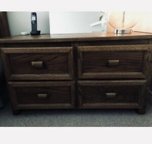 Solid wood units with drawers
