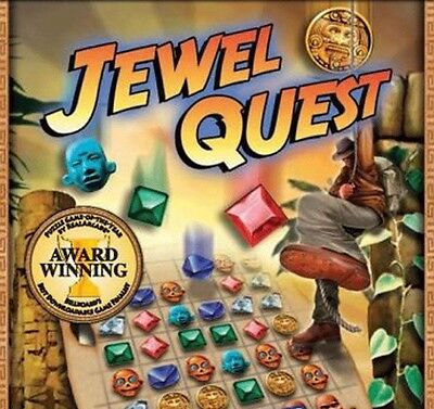 Computer Games - Jewel Quest 1 PC Games Window 10 8 7 XP Computer puzzle gem matching match three
