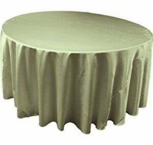 Sage green satin table cloths