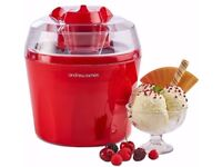 New Andrew James ice cream maker in red