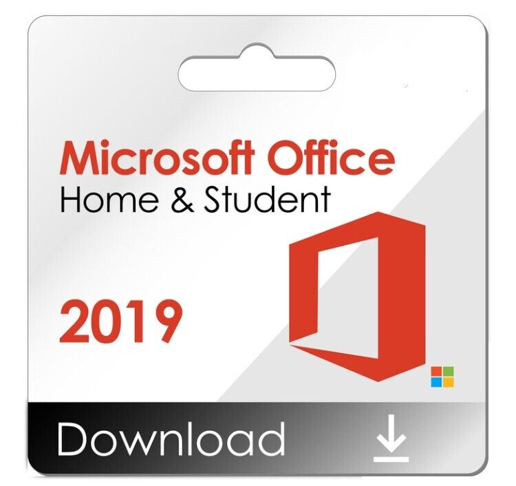 Microsoft Office 2019 Home and Student For 1 PC, Windows/Mac Product Key Card