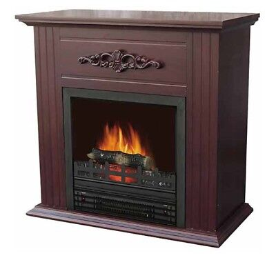 """Electric Fireplace Heater Indoor Living Room Bedroom with 28"""" Mantle, Chestnut"""
