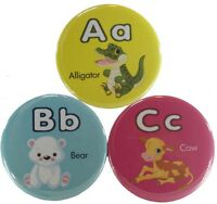 Just in time for Christmas - Animal Alphabet Magnetic Button Set