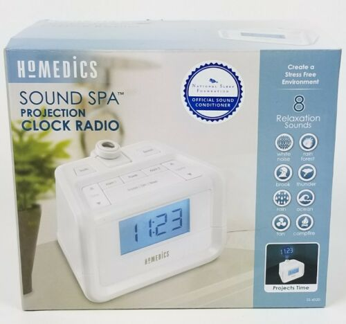 Dual Alarm Digital FM Clock Radio | Time Projection, 8 Relax