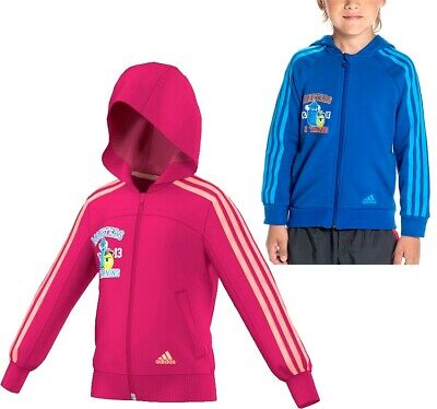 Adidas Disney Monsters Sweat Jacke Mädchen+Jungen Trainingsjacke Hoody pink+blau