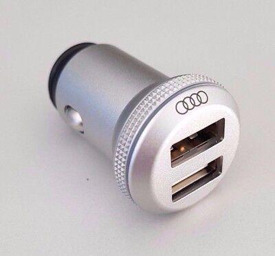 original Audi USB Adapter Aluminium dual Kfz Ladeadapter Alu Stecker charging ()