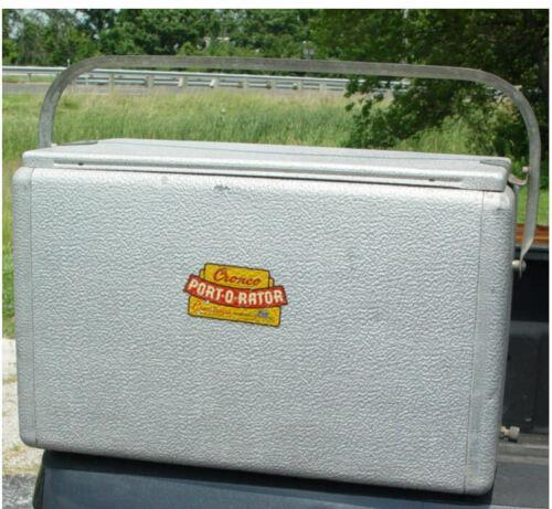 Vintage Cronco Cronstroms Port-O-Rator All Metal Cooler Ice Chest