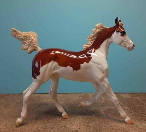 Peter Stone plastic model horse DAH chestnut splash white Arabian yearling NR