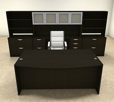 10pc Fan Front Modern Executive Office Desk Set Ot-sul-d16