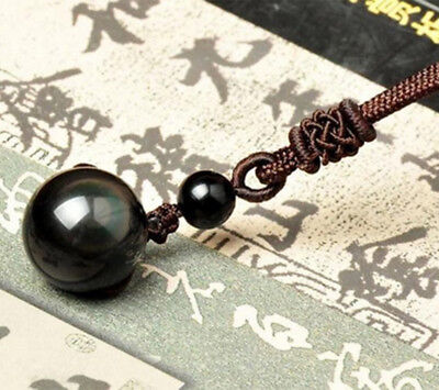 Best Gift Natural Stone Necklace Black Obsidian Chain Pendant Jewelry For (Best Jewelry Gifts For Lovers)