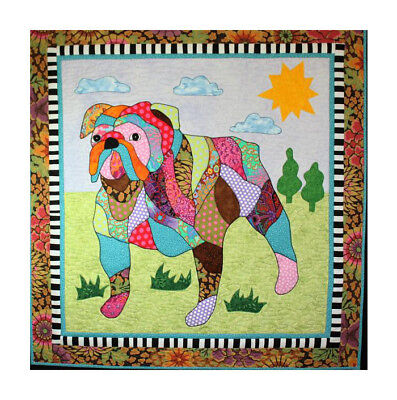 BJ Designs & Patterns Max the Bulldog Dog Applique Quilt Pattern