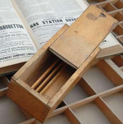 Vintage Holzkasten mit Deckel aus Druckerei shabby chic Kästchen Setzkasten