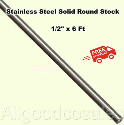 Stainless Steel Solid Round Stock 12 X 6 Ft 416 Unpolished Rod 72 Length