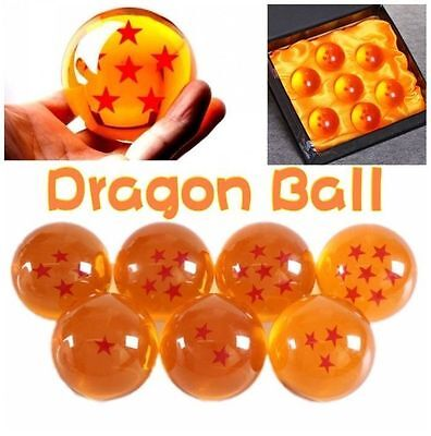 7pcs JP Anime DragonBall Z Stars Crystal 35mm Ball Collection Set with Gift Box