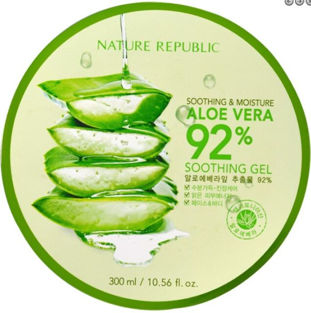 NEW NATURE REPUBLIC SOOTHING & MOISTURE ALOE VERA GEL SKIN FIRMING DAILY CARE