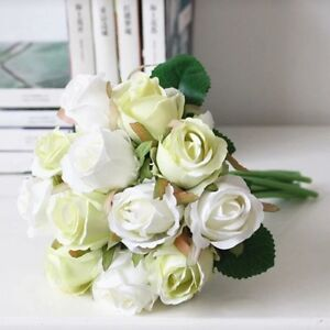 Brand New Bouquet Artificial Silk Roses Green Wedding Flowers Wandi Kwinana Area Preview