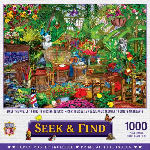Masterpieces 1000 Piece Jigsaw Puzzle - Seek & Find: Garden Hideaway