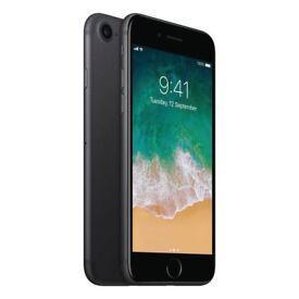 Black iPhone 7 for sale in perfect condition still have the box