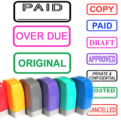Self Inking Rubber Word Stamp Company Office School Business Accounts Shop Bar