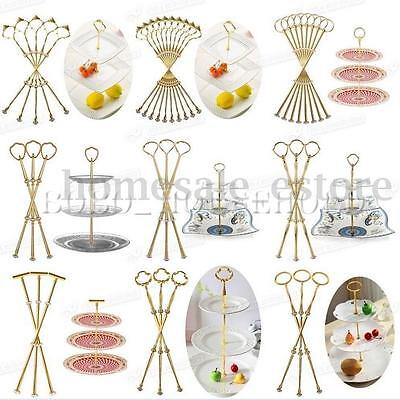 Hardware Metal Plate - 1-10set Heavy Metal Cake Plate Stand 2 3 Tier Center Handle Fitting Hardware Rod