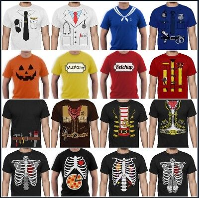 Easy Costume T-shirt Lazy Halloween For Men Pumpkin Face Skeleton X-ray Tuxedo (Easy Halloween Pumpkin)