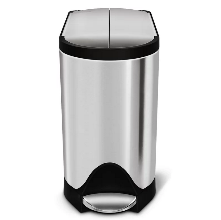 Butterfly Stainless Steel 2.6 Gallon Step On Trash Can