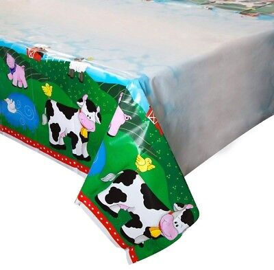 Farm Friends Animals Barnyard Plastic Tablecover Birthday Party Decor 54