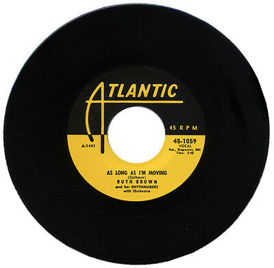 "RUTH BROWN & HER RHYTHMAKERS  ""AS LONG AS I'M MOVING""  R&B CLASSIC   LISTEN!"