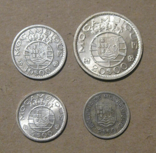 Mozambique - (4) Nice Silver Coins (1935-1960)