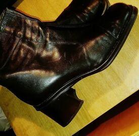 Next Black Leather UK 8 Boots