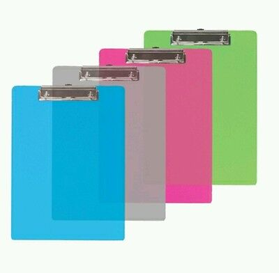 Bazic Memo Size Plastic Clipboard With Low Profile Clip Case Of 12 Clip Board