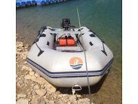 3.3 m Dinghy Inflatable & Suzuki 9.9 hp 2 stroke Autolube Outboard Engine