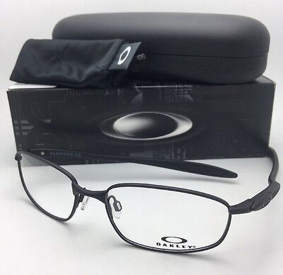 New OAKLEY Eyeglasses BLENDER 6B OX3162-0355 55-17 133 Matte Satin Black Frames, used for sale  Glendale