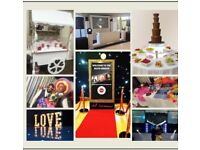 Selfie Mirror Magic Mirror Chocolate Fountain Giant Letters Sweet Cart Popcorn Candy Floss & more
