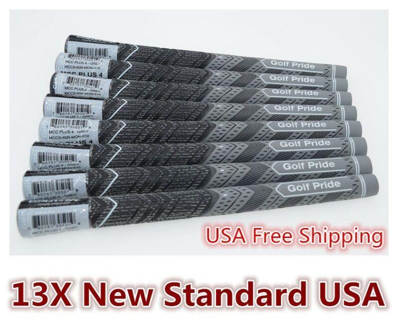 13X NEW Golf Pride MCC Plus 4 Golf Grips Standard Size Gray USA Fast Ship