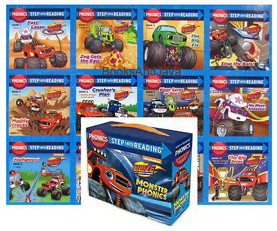 Step into Reading Monster Phonics Blaze and the Monster Machines Box Set of 12