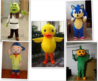 Mascot Adult Yellow Duck Shrek Pumpkin Boy Sonic Size Cartoon Costume Party Suit](Pumpkin Mascot Costume)