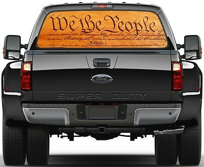We The People  Rear Window Graphic Decal Truck SUV Van Car Car Rear Window Graphics