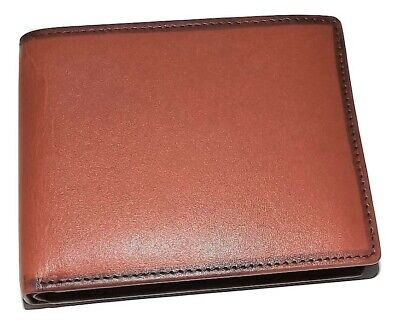MANCINI MEN'S BELTING LEATHER RFID BIFOLD WALLET WITH REMOVABLE PASSCASE COGNAC