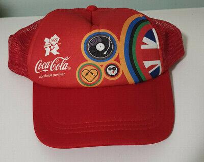 COCA COLA LONDON OLYMPICS HAT COKE HAT COKE CAP