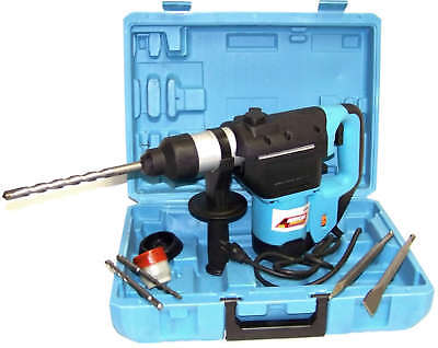 1-12 Electric Rotary Hammer Drill With Bits Sds Plus Roto Tool Variable Speed